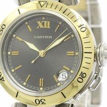 까르띠에 (Cartier) Polished Cartier Pasha 18k Gold Steel Automatic...
