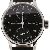 Meistersinger Singulator 43 Manual Black Dial