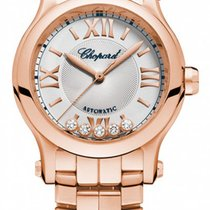 Chopard Happy Sport 18K Rose Gold & Diamonds Ladies Watch