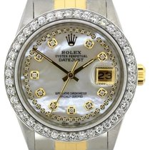 Rolex Datejust Midsize 36mm White Mother Of Pearl Dial Gold...
