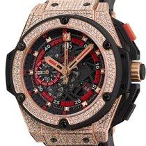 Hublot King Power UEFA Rose Gold Diamond Set Watch 716.OM.1129...