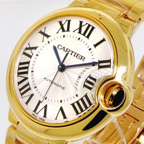 Cartier Ballon Bleu W69003z2 Mid Size 37 Mm Yellow Gold...