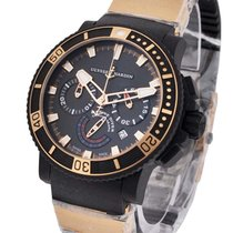 Ulysse Nardin 353-90-3 Black Sea Chronograph in Rose Gold with...