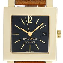 Bulgari Quadrato Ladies Large Size 18k Yellow Gold Automatic...