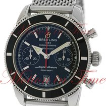 브라이틀링 (Breitling) Superocean Heritage Chronograph 44mm, Black...
