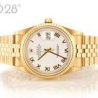Rolex Datejust 16238 Gelbgold Jubilée White Roman Dial 2003 LC100