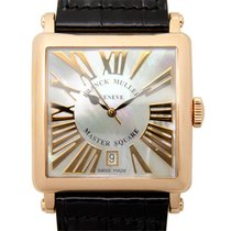 Franck Muller New  Master Square 18k Rose Gold White Quartz...