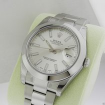 Rolex Datejust II 41mm Stainless Steel Silver Stick Index 116300
