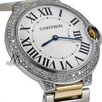 Cartier Ballon Bleu Unisex Steel And Gold Watch Custom Set...