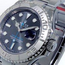 Rolex 116622 Steel Platinum Yachtmaster Dark Rhodium Dial Blue...