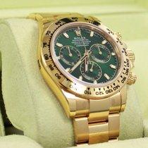 Rolex Daytona 116508 18k Yellow Gold New Green Dial Cosmograph...