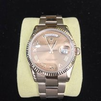 Rolex White Gold Day-Date w/ Rose Dial