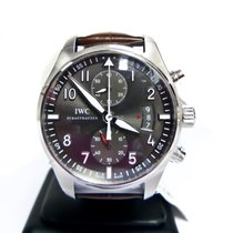 IWC Spitfire Ardoise Dial Leather Mens Watch