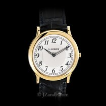 L.Leroy Men's Watch Grand Osmior 18K YG Ultra Thin Black Strap