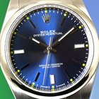 Rolex Oyster Perpetual 114300 (2015) like new blue dial full set