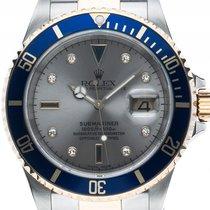 Rolex Submariner Date Sultan Serti Stahl Gelbgold Silber Dial...