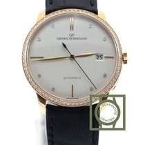 Girard Perregaux 1966 38mm Pink Gold Crocodile Strap Diamonds NEW