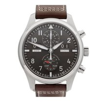 IWC Pilot's Chronograph Perpetual Calendar Stainless Steel...