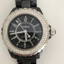Chanel J 12 Black Ceramic Diamond 38 mm