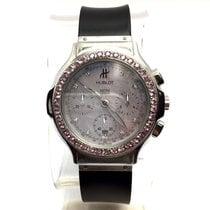 Hublot Steel Unisex Watch Diamonds & Pink Sapphires, Mof...
