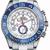 Rolex Yacht-Master II 116680 White Hands Blue Ceramic Stainles...