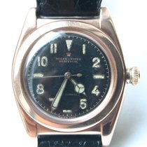 Rolex Bubble Back Ovetto Vintage, Pink Gold, Black Dial, Ref....