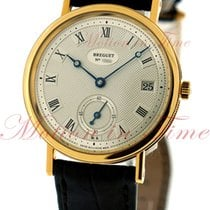 Breguet Classique Automatic, Silver Dial - Yellow Gold on Strap.