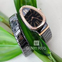 Bulgari Serpenti Spiga 35mm Ceramic & 18k Rose Gold