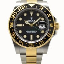 Rolex GMT-Master II 18ct Yellow Gold & Steel 40mm Black...
