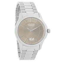 Gucci 126 G-Timeless Mens Brown Dial Stainless Steel Automatic...