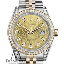 Rolex Stainless Steel And Gold 36 Mm Datejust Watch Champagne...