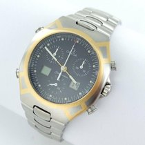 Omega Seamaster Polaris Chronograph 1/100 Stahl/gold Papiere
