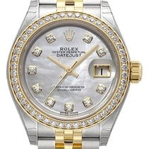 Rolex Lady-Datejust 28 279383RBR Perlmutt Diamant Jubile-Band