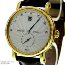 瑞宝 (Chronoswiss) DELPHIS Ref-CH1421 in 18k Yellow Gold Box...