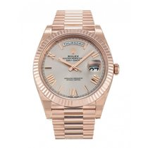 Rolex Perpetual Day Date 40 Sundust Fluted RoseGold President...