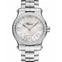 Chopard 278559-3004 Happy Sport Mid Size with Diamond Bezel -...