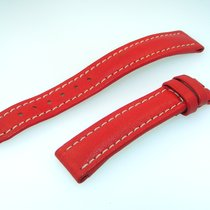 Breitling Band 16mm Red Roja Calf Strap For Ib16-38