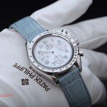 Omega Speedmaster Automatic Mother Of Pearl Dial 38mm Ladies...