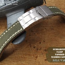 MiLTAT 21mm Military Green Washed Canvas Watch Strap for Rolex