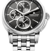Maurice Lacroix Pontos Chronographe Date, Black Dial Silver...