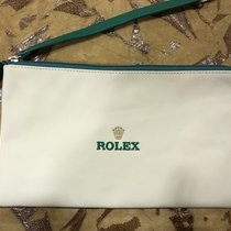 Rolex White/Green Pochette