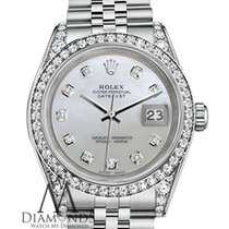 Rolex Ladyes Rolex 26mm Datejust White Mop Mother Of Pearl...
