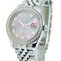 Rolex Unworn 179384 Ladies Datejust 26mm Steel with Diamond...