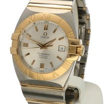 Omega Constellation Double Eagle Gold Steel Silver Dial 35 mm