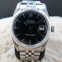 Rolex 1967 Rolex DATEJUST 1601 SS Glossy Black Dial with...
