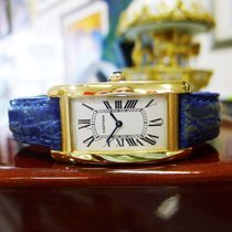 Cartier Tank Americaine 18k Yellow Gold Quartz Ref: 1720...