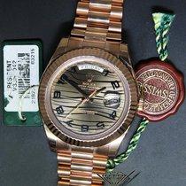 Rolex Day-Date II 18k Everose Gold Bronze Wave Dial 41mm Watch...
