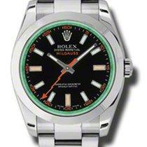 Rolex Milgauss 116400GV Black Dial Green Crystal