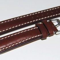 Breitling Kalbslederband mit Dornschliesse Dunkelbraun 18-16 mm