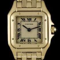 Cartier 18k Yellow Gold Silver Dial Panthere Ladies Wristwatch